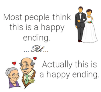 Memes, 🤖, and Happy Endings: Most people think  this is a happy  ending  Actually this is  a happy ending  MO