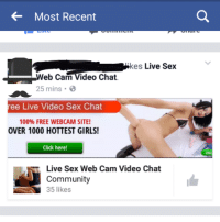 Found on fb NSFW: Most Recent  kes  Live Sex  eb Cam Video Chat.  25 mins 3  ree Live Video Sex Chat  100% FREE WEBCAM SITE!  OVER 1000 HOTTEST GIRLS!  Click here!  Live Sex Web Cam Video Chat  Community  35 likes  ON Found on fb NSFW