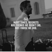 "Memes, Forever, and Success: MOST TIMES, REGRETS  ARE THINGS WE DIDN'T DO,  NOT THOSE WE DID. Those ""what if's"" will hunt you forever... Anyone knows this feeling? Comment below 😉👇 - regrets success millionairementor"