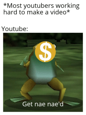 Reddit, youtube.com, and Video: *Most youtubers working  hard to make a video*  Youtube:  Get nae nae'd  A Yeet got em