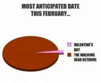Memes, The Walking Dead, and Valentine's Day: MOSTANTICIPATED DATE  THIS FEBRUARY  VALENTINE'S  DAY  THE WALKING  DEAD RETURNS
