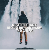 God, Memes, and Tag Someone: MOSTPEOPLE WALK  BECAUS THEY DONTKNOW  THEY CAN FLY God has made you limitless. All things are possible. Most of us never realize our full potential because we don't know we are capable of much more. LIKE IF YOU AGREE & TAG SOMEONE!