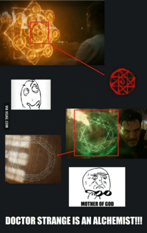 Doctor, God, and Mother: MOTHER OF GOD  DOCTOR STRANGE IS AN ALCHEMIST!! And then I realized: Hes not a magician!