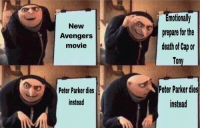 new avengers: motionally  prepare for the  death of Cap or  Tony  New  Avengers  movie  Peter Parker dies  instead  Peter Pakerdies  instead