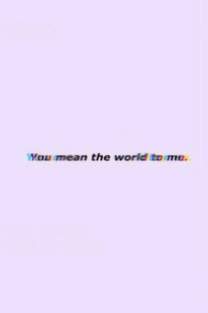 Mean, World, and The World: Mou mean the world toime.