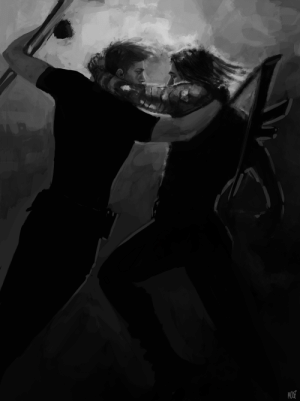 hawksonfire:  quicksillver:  My @marvelreversebigbang piece in collab with @hawksonfire!! read it here: angels warned me never to fall down [ID black and white painting of Clint Barton and Bucky Barnes. Bucky is falling through the air, rifle slung over his back. He has his bionic arm wrapped around Clint's neck as Clint is reaching out for him, hand around Bucky's shoulder prepared to catch him. Clint has one arm wrapped around a metal bar, the only thing keeping them both from falling. end ID]  Everyone needs to look at this amazingly gorgeouspiece of art right now!!!! It's so incredible and I love it with my whole heart!!! Thank you for creating it and letting me write a super cool fic for it! <33333 : MOUE hawksonfire:  quicksillver:  My @marvelreversebigbang piece in collab with @hawksonfire!! read it here: angels warned me never to fall down [ID black and white painting of Clint Barton and Bucky Barnes. Bucky is falling through the air, rifle slung over his back. He has his bionic arm wrapped around Clint's neck as Clint is reaching out for him, hand around Bucky's shoulder prepared to catch him. Clint has one arm wrapped around a metal bar, the only thing keeping them both from falling. end ID]  Everyone needs to look at this amazingly gorgeouspiece of art right now!!!! It's so incredible and I love it with my whole heart!!! Thank you for creating it and letting me write a super cool fic for it! <33333