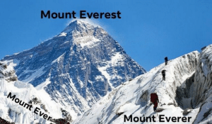 Did you understand me?: Mount Everest  Mount Ever  Mount Everer Did you understand me?