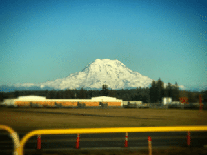 Mount Rainier as viewed from Joint Base Lewis-McChord (with some filters): Mount Rainier as viewed from Joint Base Lewis-McChord (with some filters)