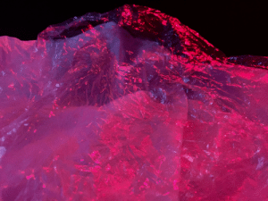 Photography, Plastic, and Lighting: Mountain scene made of discarded by plastic. Lighting photography experiment by me.