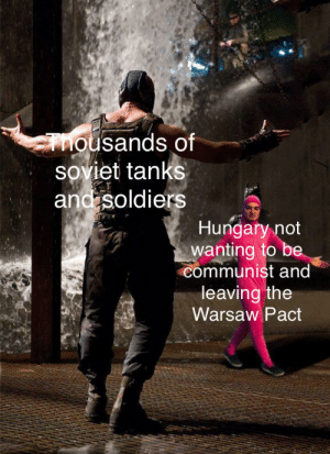 """""""You've cyka'd you're last blyat.""""-Nikita Khrushchev: mousands of  soviet tanks  and soldiers  Hungary not  wanting to be  communist and  leaving the  Warsaw Pact """"You've cyka'd you're last blyat.""""-Nikita Khrushchev"""
