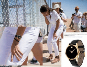 Movado Watches Sponsor AOC's Mello-Dramatic/Oscar-Worthy Performance at The Wall: Movado Museum Classic Black Strap Gold Women's Watch  $595.00sok by Nordm  Swws Compae pi Aalahle neahy Movado Watches Sponsor AOC's Mello-Dramatic/Oscar-Worthy Performance at The Wall