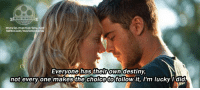 Memes, 🤖, and The Lucky One: MovE MEMORIES  movie-memories ne  twitter.com/moviememories  Everyone has their own destiny,  follow it, I'm lucky I did  not every one makes the choice to The Lucky One