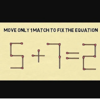 MOVE ONLY 1MATCH TO FIX THE EQUATION Make it 5-7=-2 ~mich••••••••••••••••• [Other accounts @plshelpimconfused @usednotebook @extreamlyjudgementalhat ] TAGS TAGS TAGS TAGS TAGS tumblrtextpost tumblrposts textpost tumblr shrek instatumblr memes posts phan funnythings 😂 same funny haha loltumblr lol relatable rarepepe funnythings funnytextposts pepeislife meme funnystuff pepe food spam
