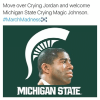 FTW!!!: Move over Crying Jordan and welcome  Michigan State Crying Magic Johnson.  #MarchMadnessM  MICHIGAN STATE FTW!!!