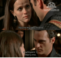 Memes, Walk the Line, and 🤖: MOVIE MEMORIES  movie-memories net  twitter.com/moviememories  You're my best friend.  whispers  Marry me. Walk the Line