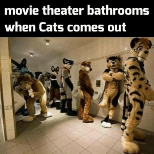 This is going to be their Citizen Kane: movie theater bathrooms  when Cats comes out This is going to be their Citizen Kane