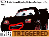 MOVIE TRAILERS  'Cars 3' Trailer Shows Lightning McQueen Destroyed in Fiery  Wreck  KER