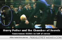 """<p>Potter Mistakes <a href=""""http://ift.tt/1xVloVl"""">http://ift.tt/1xVloVl</a></p>: moviemistakes.com  Harry Potter and the Chamber of Secrets  Cameraman visible on left of sceen  Hitler hated this site too  MUGGLENET MEMES.COM <p>Potter Mistakes <a href=""""http://ift.tt/1xVloVl"""">http://ift.tt/1xVloVl</a></p>"""