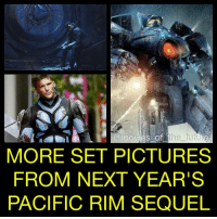 Set pictures have been flooding in from PacificRimUprising and now we have more. Star JohnBoyega took to Instagram to reveal a behind the scenes image and star ScottEastwood was also photographed on set suited up. I'm looking forward to the PacificRim sequel, are you? PacificRim2 stars JohnBoyega, ScottEastwood, JingTian, RinkoKikuchi, CharlieDay, CaileeSpaeny and reportedly KarlUrban from director StevenDeKnight arriving February 2018.: movies of  the future  MORE SET PICTURES  FROM NEXT YEAR'S  PACIFIC RIM SEQUEL Set pictures have been flooding in from PacificRimUprising and now we have more. Star JohnBoyega took to Instagram to reveal a behind the scenes image and star ScottEastwood was also photographed on set suited up. I'm looking forward to the PacificRim sequel, are you? PacificRim2 stars JohnBoyega, ScottEastwood, JingTian, RinkoKikuchi, CharlieDay, CaileeSpaeny and reportedly KarlUrban from director StevenDeKnight arriving February 2018.