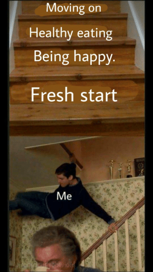 Dank, Fresh, and Memes: Moving on  Healthy eating  Being happy.  Fresh start  Me  Jpiconsaousyoblivious attaboi! by consciouslyoblivious FOLLOW 4 MORE MEMES.