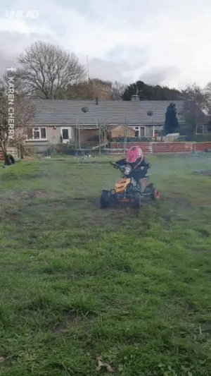 'My three-year-old daughter ripping it up on a quad bike!' 🏍️🙌: -MP  REN CHERRY 'My three-year-old daughter ripping it up on a quad bike!' 🏍️🙌