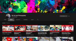 News, Videos, and Goal: Mr Art and Photography  SUBSCRIBED 426  426 subscribers  CHANNELS  НOME  VIDEOS  PLAYLISTS  ABOUT  SORT BY  Uploads PLAY ALL  Poz om dema  Sdiry fexture to ake  36  Easy Image raner fech 3:08  Aaking Concertercas elchbo 3:35  Makig Cicplisicr  Elelchbi 3:35  oter poteinates ller on1:11  Completing the Play Butf 3:14  Polar Coordinates Digital  Manipulation Effect [Pixlr...  Image Transfer Technique  Making Concertina  Sketchbooks  Making Explosion  Sketchbooks  Completing the Play Button  [Part 3]  Digital Texture Overlay  Technique [Pixlr Tutorial  113 views 1 day ago  37 views 1 week ago  2 weeks ago  12 views 3 weeks ago  178 views 1 week ago  22 views  57 views 3 weeks ago This is my photography teacher's channel. He promised us he'd make a gaming video if he reaches 500 subscribers by the 27th of June. We are trying to spread the news and get him to his goal. Please subscribe to him!