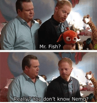 Modern Family: Mr. Fish?  Really? You don't know Nemo? Modern Family