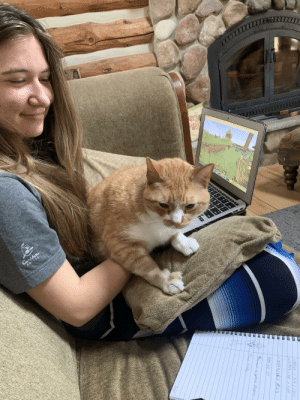 Mr Frank Sinatra wanted cuddles during a minecraft sesh: Mr Frank Sinatra wanted cuddles during a minecraft sesh