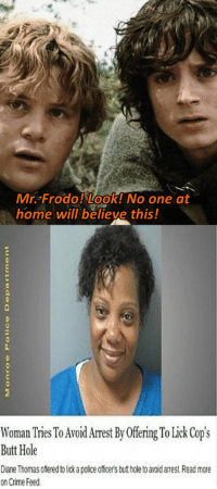 "<p>New format on an older idea. Could see at least a small rise if used effectovely. Buying? via /r/MemeEconomy <a href=""https://ift.tt/2KxPH2x"">https://ift.tt/2KxPH2x</a></p>: Mr. Frodo! Look! No one at  home will believe this!  Woman Tries To Avoid Arrest By Offering To Lick Cop's  Butt Hole  Diane Thomas offered to lick a police office's but hole to avoid arest Read more  on Crime Feed <p>New format on an older idea. Could see at least a small rise if used effectovely. Buying? via /r/MemeEconomy <a href=""https://ift.tt/2KxPH2x"">https://ift.tt/2KxPH2x</a></p>"
