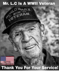 Mr. L.C was born 12-31-1921. He served in WWll as a medic in the front lines of the U.S Army under Gen. Patton. Thank you for your service. https://t.co/Tvl7sCGFVx: Mr. L.C Is A WWII Veteran  ERAN  Thank You For Your Service! Mr. L.C was born 12-31-1921. He served in WWll as a medic in the front lines of the U.S Army under Gen. Patton. Thank you for your service. https://t.co/Tvl7sCGFVx