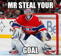 Hockey, Game, and Goal: MR STEAL YOUR  VAUGHN  GOAL  ake a Memet I posted this before but that habs 4-0 win in game 6 th ~Snipez