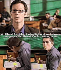 Memes, Hair, and 🤖: Mr. Stilinski Tryp  the highlighter down between  paragraphs. hrs chemistry, nor a Coloring booka  @TEEN WOLFBOYSS l ig + buzzcut stiles or long hair stiles???