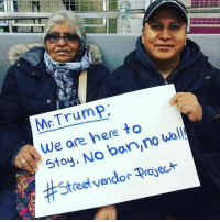 Heck yes!!! 💯💯💯 nobannowall lovetrumpshate Repost @streetvendorproject: Mr Trump  We are here to  wall!  no No ban Stay. proyect  vendor Street Heck yes!!! 💯💯💯 nobannowall lovetrumpshate Repost @streetvendorproject