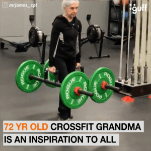Grandma, Memes, and Crossfit: mrjames_cpt  9off  72 YR OLD CROSSFIT GRANDMA  IS AN INSPIRATION TO ALL  ROGL  Ue  RO  BITOGT  Ue  RO Don't mess with this senior citizen.