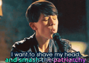 """MRW I mention that I'm trying to grow my pixie cut out and my coworker replies with """"Good! I prefer women with long hair."""": MRW I mention that I'm trying to grow my pixie cut out and my coworker replies with """"Good! I prefer women with long hair."""""""