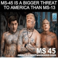 ms 13: MS-45 IS A BIGGER THREAT  TO AMERICA THAN MS-13  AMERICAISMOST DANGEROUS GANG