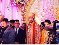 Memes, 🤖, and Dhoni: MS Dhoni with the newly wed couple Mr. and Mrs. Ishant Sharma