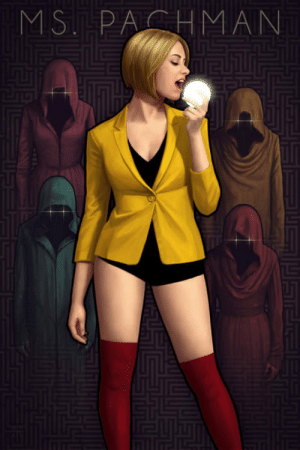 Club, Tumblr, and Blog: MSPAHMAN laughoutloud-club:  Interesting take on Ms. Pacman by Astor Alexander