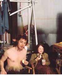 Tumblr, Blog, and Http: mspevensie:  James McAvoy and Georgie Henleyon the set of The Chronicles of Narnia: The Lion, the Witch and the Wardrobe.