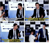 """<p>Real Madrid&rsquo;s Cristiano Ronaldo defends a young fan who isn&rsquo;t fluent in Portuguese via /r/wholesomememes <a href=""""http://ift.tt/2kdd7MG"""">http://ift.tt/2kdd7MG</a></p>: MTG  Fang dtries to speak PortugueseWhy arethensmiling? Why He speaks  audience laughs  good Portuguese. Very good  MTG  MTG  MTG  MT  They should be happy becausehe's  trying very hard. It's good. <p>Real Madrid&rsquo;s Cristiano Ronaldo defends a young fan who isn&rsquo;t fluent in Portuguese via /r/wholesomememes <a href=""""http://ift.tt/2kdd7MG"""">http://ift.tt/2kdd7MG</a></p>"""