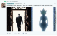 Memes, 🤖, and Yugi: MTL Jer Retweeted  sandris  @misandrism. Th  why obama look like Yami Yugi returning to the spirit world after his final duel The resemblance is uncanny.
