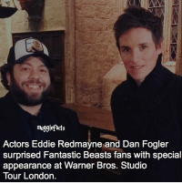 qotd : favorite fantastic beasts character?: mugglefacts  Actors Eddie Redmayne and Dan Fogler  surprised Fantastic Beasts fans with special  appearance at Warner Bros. Studio  Tour London. qotd : favorite fantastic beasts character?