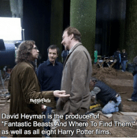 """qotd : comment """"😏"""" if you knew this and """"😱"""" if you didn't. Yay, a two in one, a fact and a behind the scenes!: mugglefacts  David Heyman is the producer of  """"Fantastic Beasts And Where To Find Them  as well as all eight Harry Potter films. qotd : comment """"😏"""" if you knew this and """"😱"""" if you didn't. Yay, a two in one, a fact and a behind the scenes!"""