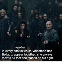 """Memes, 🤖, and Voldemort: mugglefacts  In every shot in which Voldemort and  Bellatrix appear together, she always  moves so that she stands on his right. qotd : comment """"😏"""" if you knew this and """"😱"""" if you didn't. fc: 94,6k"""