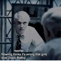 "Memes, Reason, and 🤖: mugglefacts  Rowling thinks it's wrong that girls  love Draco Malfoy UPDATE: for some reason i can't post anything?!! Not even on my story wth😰⚠️⚠️ qotd : comment ""😏"" if you knew this and ""😱"" if you didn't. People say rowling is wrong, HOW can she be wrong about a character she made?! fc: 82,4k"