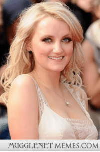 "Beautiful, Life, and Memes: MUGGLENET MEMES.COM <p>The beautiful Miss Evanna Lynch! Thank you for bringing Luna Lovegood to life! <a href=""http://ift.tt/1tP01nl"">http://ift.tt/1tP01nl</a></p>"