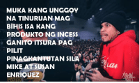 Youtu, Filipino (Language), and Mag: MUKA KANG UNGGOY  NA TINURUAN MAG  BIHIS ISA KANG  PRODUKTO NG INCESS  GANITOTTSURA PAG  PILIT  PINAGKANTUTAN SILA  MIKE AT SUSAN  ENRIOUEZ Hahahah ang likot talaga ng isip ng hari ng tugma! -Bardagul  Submitted by: El John Calayag  Loonie vs Plazma https://youtu.be/kr5xh8aLjrA