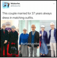 4aaf8a4d77 CaiMukovhe This couple married for 37 years always dress in matching outfits .