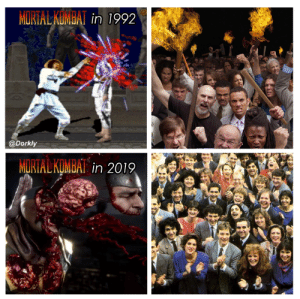 We've come a long way.: MulSİALAUMuAl in 1992  @Dorkly  MORTAL KOMBAT We've come a long way.