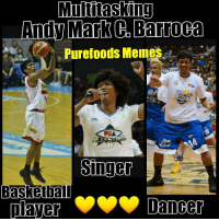 So talented naman talaga this boy oh 💛💛💋  -Dyerah 💋: Multitasking  Andy Mark Barropa  Purefoods Meme  Singer  Basketball  player  Dancer So talented naman talaga this boy oh 💛💛💋  -Dyerah 💋